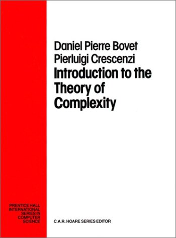 Introduction to the Theory of Complexity (Prentice-Hall International Series in Computer Science)