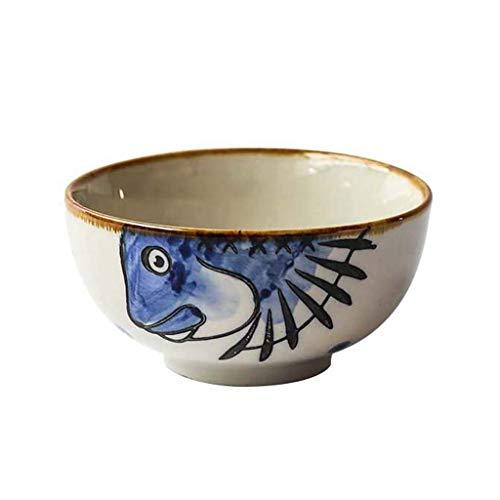 ACZZ 4,25 Zoll kreative handgemalte Reis Schüssel Bone China Keramik Nudeln Salat Obst Schüssel Cartoon Geschirr Versorgung (Reis Schüssel China Bone)