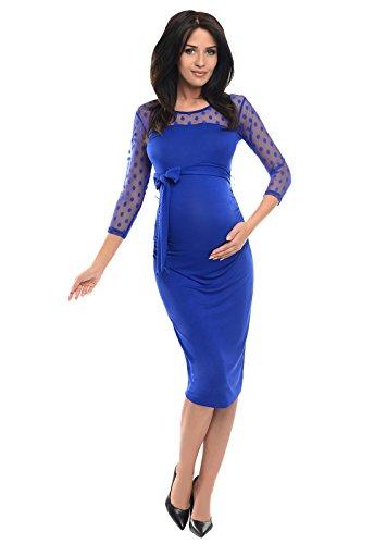 Purpless Maternity Vestido de Embarazo de Encaje Bodycon D008 (42, Roy
