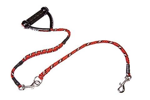 EzyDog 5708214104495 Leine Cujo combo A, 25 inch 100 cm plus 1 Cujo extension 24 inch, rot