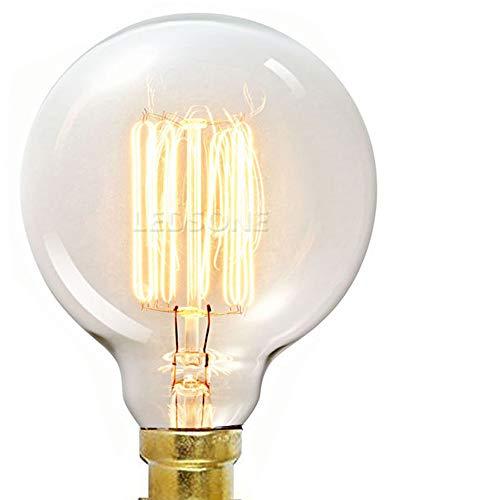 LED sone Vintage Edison Globe Glühbirne 40Watt, Käfigläufer Globe 125mm, E27BC, dimmbar, UK Lager-G125, 40W, E27, warmweiß, B22d 60.00W 220.00V