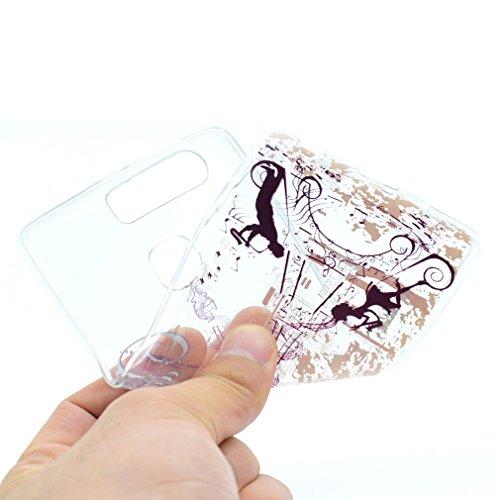SZHTSWU® Hülle für iPhone 7, Ultra Slim Thin Weiche TPU Ultradünn Soft Silikon Schutzhülle Case Transparent Clear Flexible Rückschale Back Cover Etui Handy Hülle Bumper für Apple iPhone 7, Campanula Musikturm
