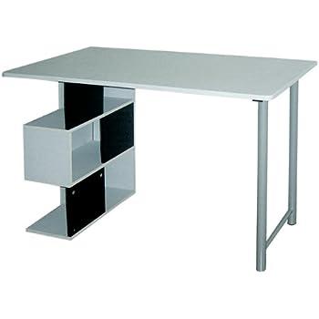 Scrivania porta pc da ufficio in legno ed acciaio con 3 - Mensole porta pc ...