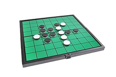 Jeu de société magnétique (taille compacte de voyage): Reversi - pions magnétiques, tablier pliant, 19cm x 19cm x 1cm, Mod. SC6604 (DE)