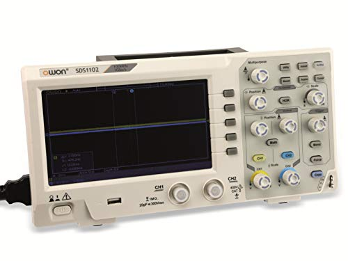 LCD Speicher-Oszilloskop OWON SDS1102, 2-Kanal, 100 MHz, USB