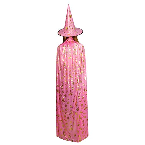 Prima05Sally Halloween Kürbis Cape Mantel Ghost Festival Kinder Erwachsenen Maskerade Heißprägen Hexe Fünf Sterne Hut