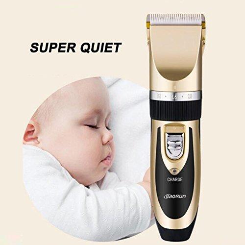 Super Leise Akku-Haarschneidemaschine AUFLADBARER HAARSCHNEIDER Barber Trimmer Set für daheim(GOLD)