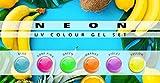 N&BF 6er Farbgel Set Neon | 6x5 ml UV Color Gel Sparset | Colourgel in sechs knalligen Neon-Farben | Made in EU | Sparpaket für Gelnägel & Nail Art Design | Profi Nagelgel bunt