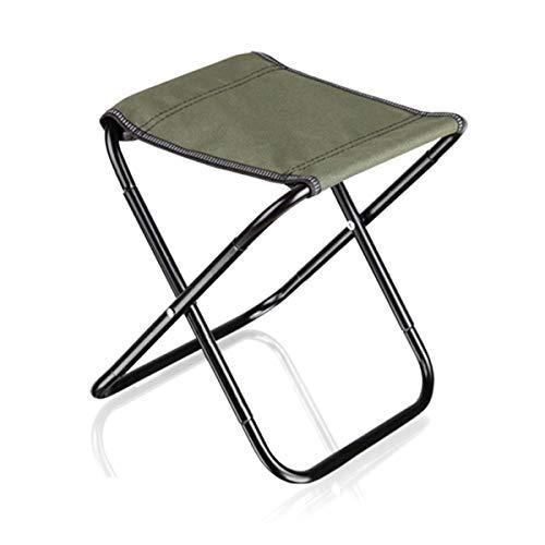 Folding Stool Tragbarer Klappbarer Campinghocker, Mini Kleiner Klappstuhl Angelhocker Geeignet Für Reisen/Wandern/Strand/Garten/Outdoor-aktivitäten (25.5x23.5x28.5cm) Green