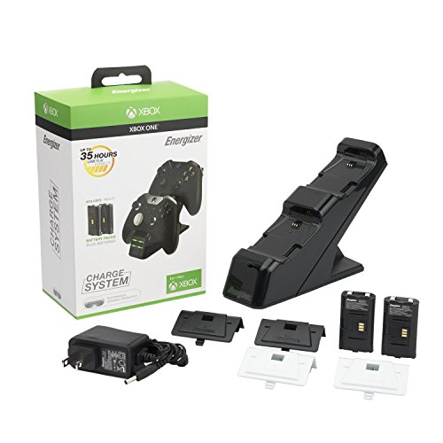 Energizer Chargeur de manettes 2 x avec batterie rechargeable sans fil pour Xbox One - noir