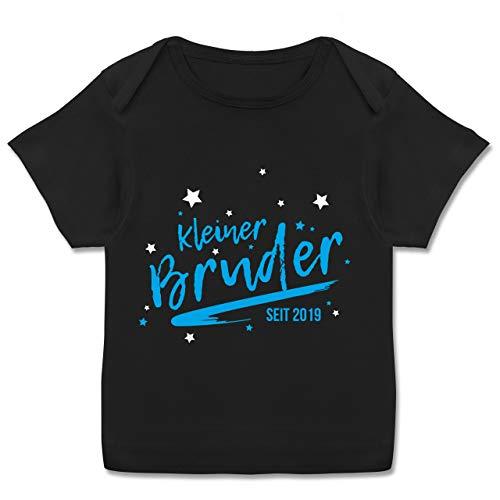 Anlässe Baby - Kleiner Bruder seit 2019-68-74 (9 Monate) - Schwarz - E110B - Kurzarm Baby-Shirt für Jungen und Mädchen