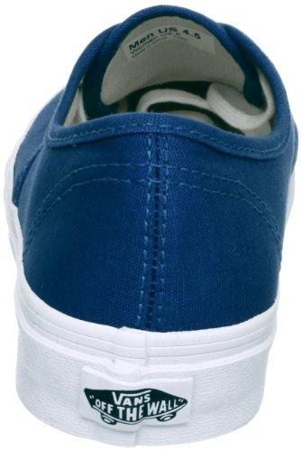 Vans U Authentic Slim, Baskets mode mixte adulte Bleu (Dark Denim/True White)