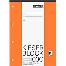 Brunnen 1042923 KIESER-Block Lineatur 3 (A4, 50 Blatt, blanko, 80 g/m², Klasse 3)
