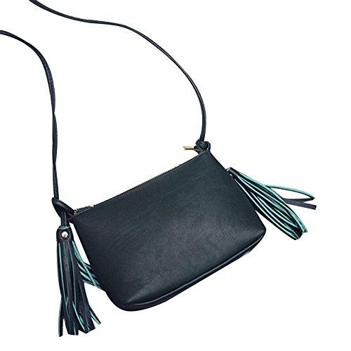 Longra Donne in pelle nappa spalla della borsa Verde