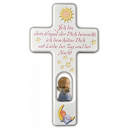 """Kreuz mit Schutzengel für Jungen """"Ich bin dein Engel der Dich bewacht..."""""""