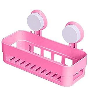 aoxintech Küche Badezimmer Regal Kunststoff Dusche Caddy Organizer Halter Tablett mit Saugnäpfe rose