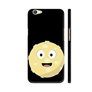 Colorpur Moon Face Printed Back Case Cover for Oppo F1s