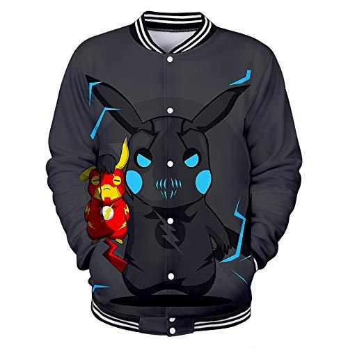 l für Männer und Frauen Pikachu Weihnachten Freizeitjacke Pokémon Bekleidung für Vier Jahreszeiten L XL XXL,B,XXXXL ()