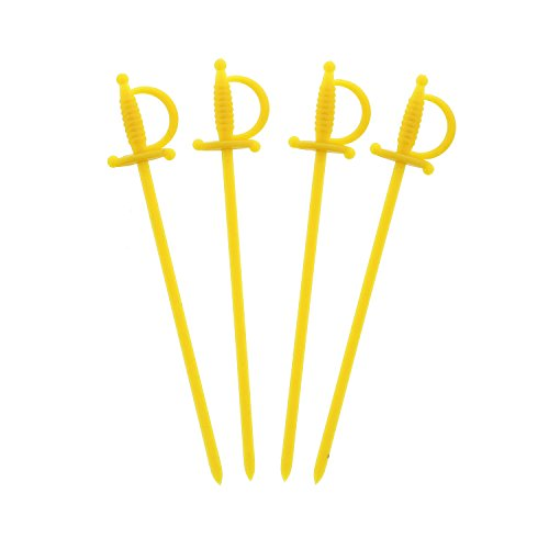 (Royal 11.5 cm Plastik Cocktail-Schwerter in gelb, Packungsinhalt: 500)