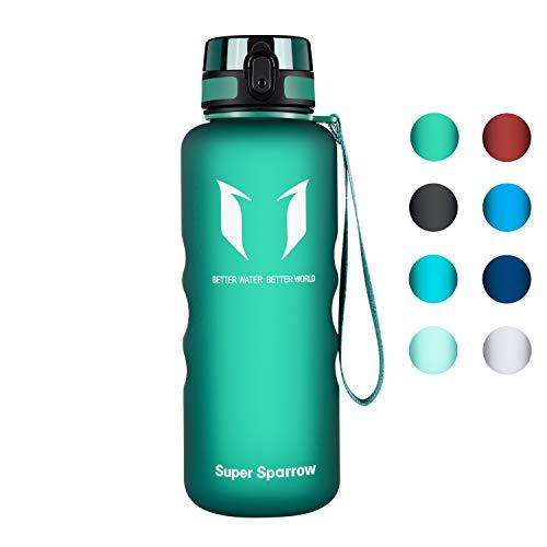 Super Sparrow Trinkflasche - 1.5L - Wasserflasche Auslaufsicher -Sportflasche BPA-Frei | Schule, Sport, Wasser, Fahrrad -