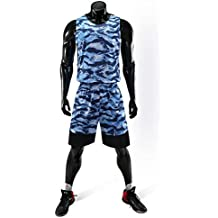 Baloncesto Camiseta De Uniforme Deportiva De Basket Jersey para NiñO Adulto Camisa De Baloncesto,Blue