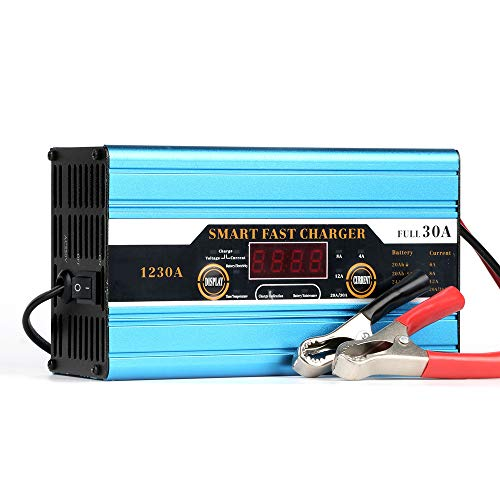 Preisvergleich Produktbild ZUEN 20A / 30A / 40A Auto-Blei-Säure-Batterie-Intelligentes Ladegerät Für Auto-Motorrad LCD-Anzeige, B