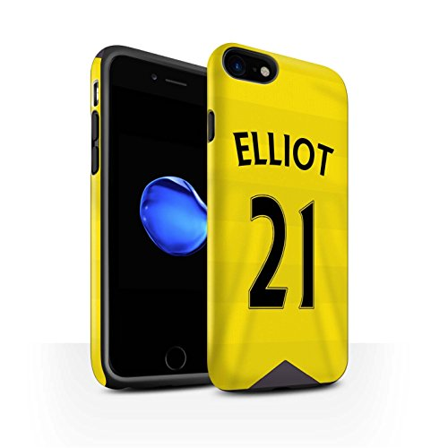 Officiel Newcastle United FC Coque / Matte Robuste Antichoc Etui pour Apple iPhone 7 / Taylor Design / NUFC Maillot Domicile 15/16 Collection Elliot