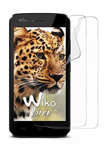 moex 2X Wiko Birdy | Schutzfolie Klar Bildschirm Schutz [Crystal-Clear] Screen Protector Display Handy-Folie Dünn Bildschirmschutz-Folie für Wiko Birdy/Wiko Birdy 4G Bildschirmfolie