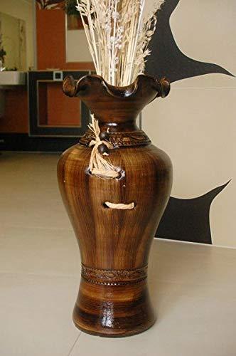 Deko-Shop-Hannusch Edle Bodenvase, Amphore, Vase, Kastanie, 60 cm, Tonkeramik, aus Portugal