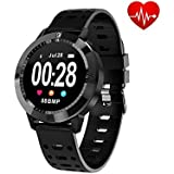 OPTA SB-056-GARNET Smart Watch Blood Pressure Heart Rate Monitor HD Display Bluetooth Unisex Fitness Smartband for Android and iOS Smartphones