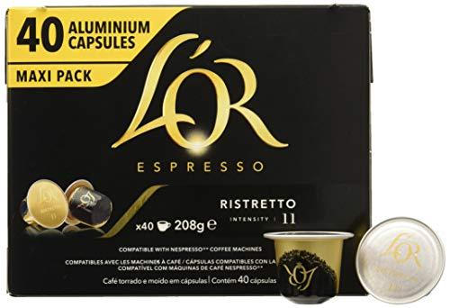 L'Or, Cápsulas de café (Ristretto) - 40 cápsulas