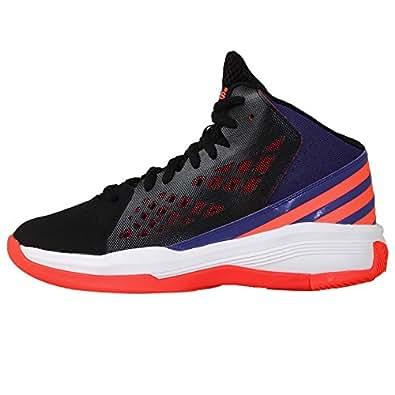 adidas Men's Speedbreak Core Black, Solar Red and Power Purple F14 Basketball Shoes - 9 UK