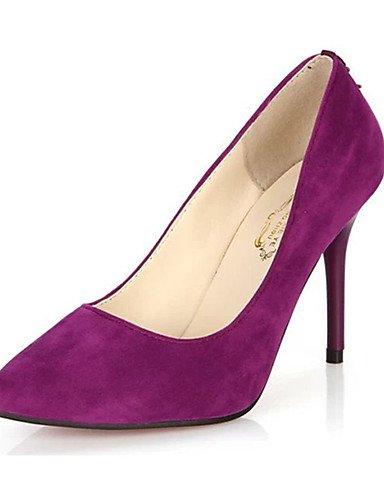 GS~LY Da donna-Tacchi-Casual-Tacchi-A stiletto-Felpato-Nero / Blu / Viola / Borgogna black-us7.5 / eu38 / uk5.5 / cn38