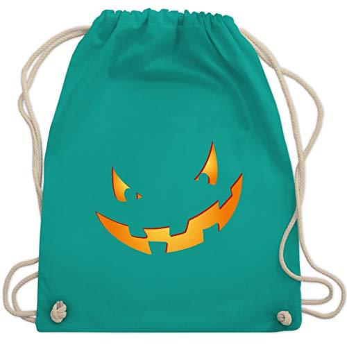 (Halloween - Kürbisgesicht klein Pumpkin - Unisize - Türkis - WM110 - Turnbeutel & Gym Bag)
