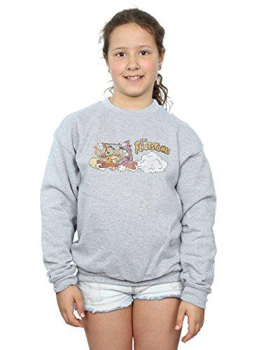 tones Mädchen Family Car Distressed Sweatshirt 5-6 Years Sport Grey ()