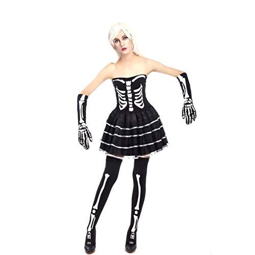 (MIAO Halloween Kostüm Erwachsene Cosplay Shantou Regal Vampir Kostüm Teufel Kostüm Ghost Festival Maskerade Bühnenkostüm Geeignet Für Karneval Thema Parteien,Black2,L)