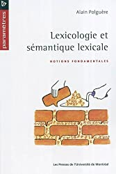 Lexicologie et semantique lexicale
