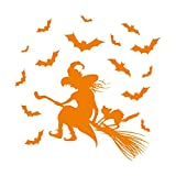 1334__O Wall stiker Décoration de halloween ( Orange)