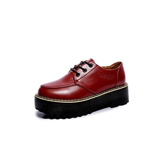 XTIAN , chaussons d'intérieur femme rouge bordeaux