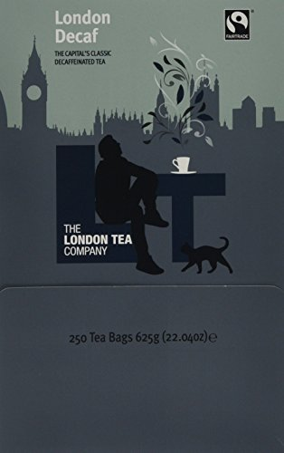 The London Tea Company Decaf London Breakfast Fairtrade Teabags, 250-Count