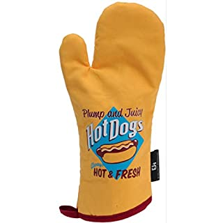 AiO-S - OK Hot Dogs Topfhandschuh Grillhandschuh BBQ Retro Vintage Look Kochhandschuh