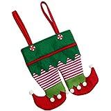 saihui bolsa para Candy de Navidad Santa muñecos de nieve bolsa de regalo de Papá Noel niños bolsa de almacenamiento, A