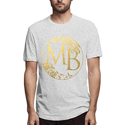 Herren T-Shirt Michael Bolton Rundhals Vintage Kurzarm T-Shirt Aus Baumwolle Grau S
