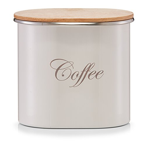 Vorratsdose 'Coffee' Deckel Holz Kaffeedose Aufbewahrungsdose Dose Kaffee