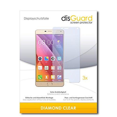 3 x disGuard® Schutzfolie Gionee Marathon M5 plus Bildschirmschutz Folie