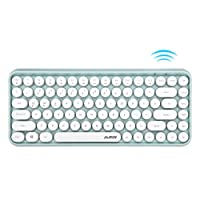قاعدة مفاتيح بلوتوث من Ajazz 308i ذات مفاتيح دائرية 10 متر اتصال بلوتوث 84 مفاتيح لـ ويندوز 2000، ويندوز اكس بي، ويندوز ام اي، ويندوز فيستا 7/8/10 أخضر