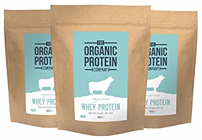 Organic Whey Protein Powder, Grass Fed, Additive Free (3 Packs) - The Organic Protein Company from The Organic Protein Company