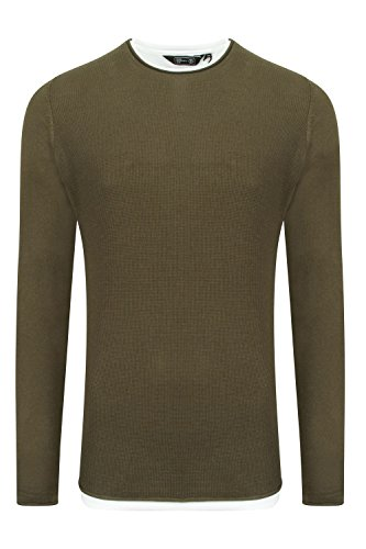Dissident - Pull - Pull - Homme gris gris Small Amazon Khaki - Green