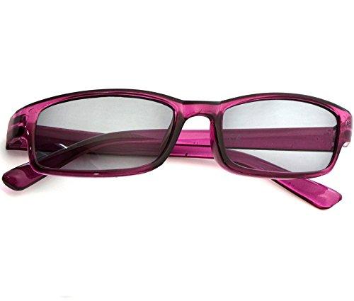 Damen Herren Lesebrille Sonnenbrille +1.5 +2.0 +3.0 +4.0 Slim Sun Readers Perfekt für den Urlaub Retro Vintage Brille MFAZ Morefaz Ltd (+3.5 Sun, Purple)