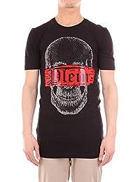 Philipp Plein Hombre MTK2491PJY002N02 Negro Algodon T-Shirt